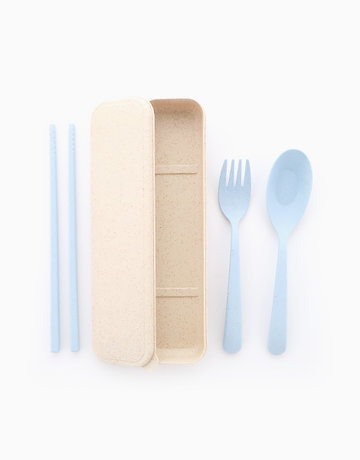 Wheat Utensils in Blue by Ecoholics MNL