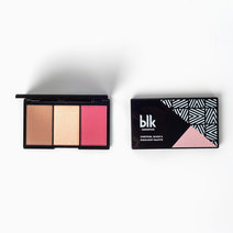 Contour, Blush & Highlight Palette in Rouge by BLK Cosmetics in