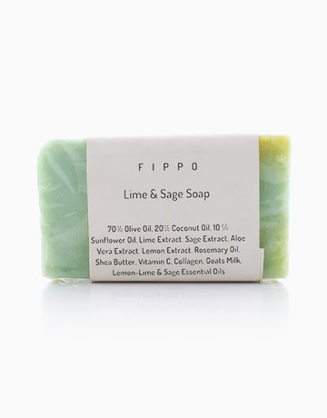 Lime & Sage Soap by Fippo Handcrafted Bath & Body