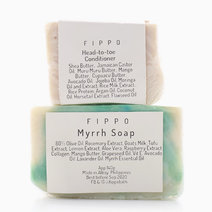 Myrrh Soap & Conditioning Bar with Soap Dish by Fippo Handcrafted Bath & Body