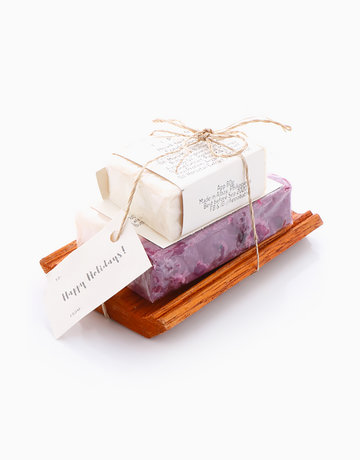 Frankincense Soap + Soap Dish (Red) by Fippo Handcrafted Bath & Body