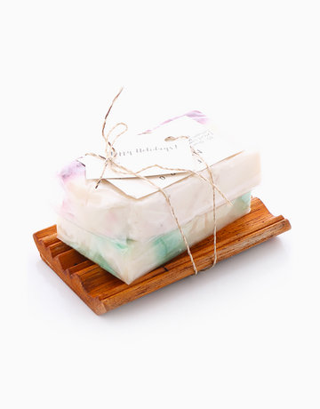 Myrrh & Frankincense Soap + Soap Dish by Fippo Handcrafted Bath & Body