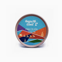 Happy island scented soy candle  pina colada 2oz (christmas edition)