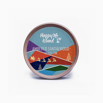 Happy island scented soy candle  ambered sandalwood 2oz (christmas edition)