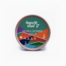 Happy island scented soy candle  melon   cucumber 2oz (christmas edition)