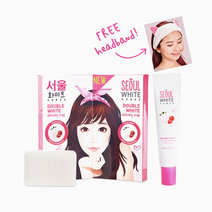 Online Exclusive: 2 Triple Pack Whitening Soap and Tone-up Whitening Cream FREE Hairband by Seoul White Korea in
