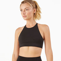Topanga Bra in Black by Girlfriend Collective