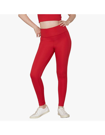 "Compressive High-Rise Legging With 23 3/4"" Inseam in Cherry by Girlfriend Collective"