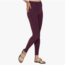 "Lite High-Rise Legging With 23 3/4"" Inseam in Plum by Girlfriend Collective"