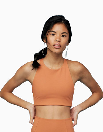 Topanga Bra in Toasted Apricot by Girlfriend Collective