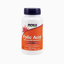 Folic Acid 800 mcg with Vitamin B-12  by NOW