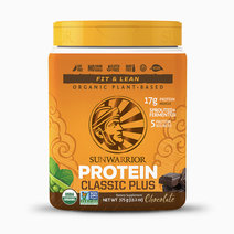 Classic Plus Organic Sprouted & Fermented Plant-Based Protein in Chocolate (15 Servings Tub) by Sunwarrior