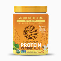Classic Plus Organic Sprouted & Fermented Plant-Based Protein in Vanilla (15 Servings Tub) by Sunwarrior