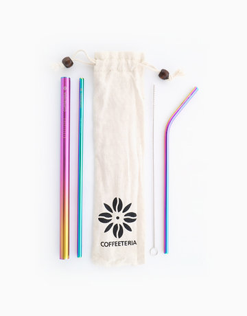 Rainbow Metal Straw Kit by Coffeeteria