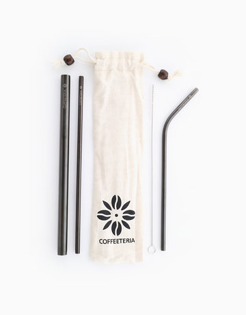 Black Metal Straw Kit by Coffeeteria
