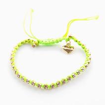 Striking Neon Rhinestone Bracelet by Luxe Studio