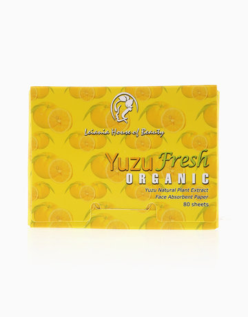 YuzuFresh Organic Face Oil Blotting Paper (80 Sheets) by Leiania House of Beauty