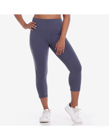 Hold Your Core Crop Leggings in Blue Grey by Core Athletics