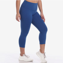 Hold Your Core Crop Leggings in French Blue by Core Athletics