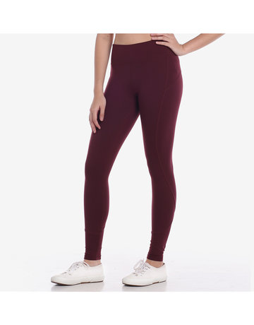 Pace Yourself 7/8s Leggings in Bloody Red by Core Athletics