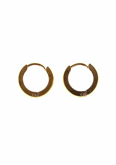 Carol 1.25cm Hoop Earrings by Dusty Cloud in Gold