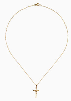 Ani Cross Necklace by Dusty Cloud in Gold