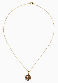 Mattia St. Benedict Necklace by Dusty Cloud in Gold