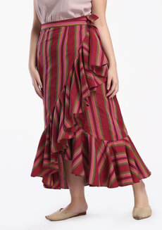 Esmeralda Maxi by ANTHILL Fabric Gallery in Maroon in XL