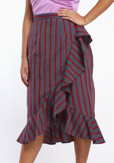 Esmeralda Midi by ANTHILL Fabric Gallery in Maroon in M
