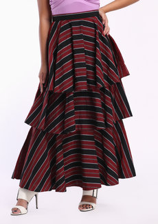Loro Maxi by ANTHILL Fabric Gallery in Black Red in M
