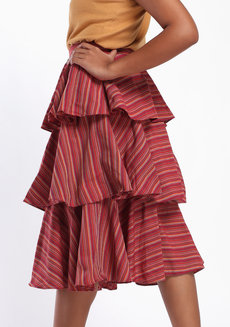 Loro Midi by ANTHILL Fabric Gallery in Maroon in L