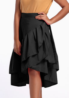Daina Skirt Plus (Petite) by Style Ana in Black in L