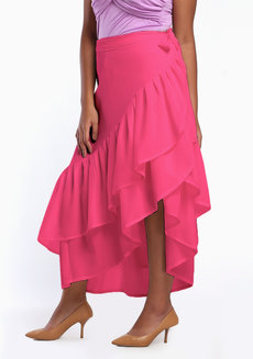 Daina Skirt Plus (Tall) by Style Ana in Hot Pink in L