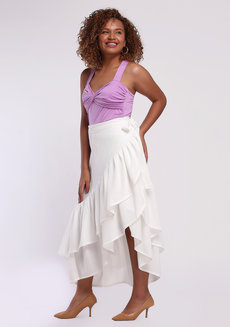 Daina Skirt Plus (Tall) by Style Ana in White in L
