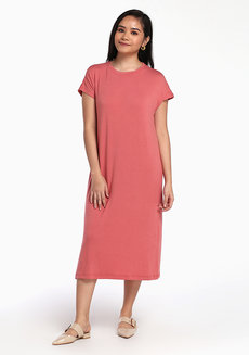 Lazy Maxi Dress by Lazy Fare in Salmon in Free Size