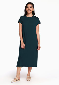 Lazy Maxi Dress by Lazy Fare in Teal in Free Size