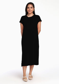 Lazy Maxi Dress by Lazy Fare in Black in Free Size