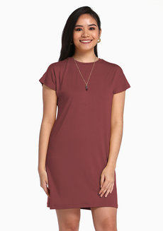 Lazy Shirt Dress by Lazy Fare in Salmon in Free Size
