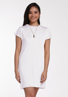 Lazy Shirt Dress by Lazy Fare in White in Free Size