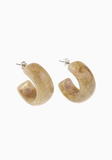 Sophie (Acrylic Hoop Earrings) by Kera & Co in Gray