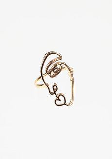 Taylor Ring - Right Face by Nove in Gold