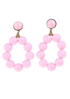 Calliope Drop Earrings by Nove in Pink
