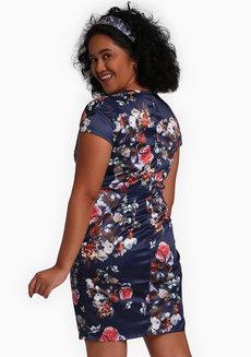 Lala Wrap Dress by Chelsea in Blue in L