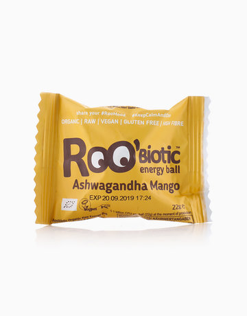 Roobiotic Ashwagandha Mango Energy Ball (22g) by Roobar