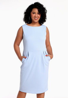 Neta Dress by Chelsea in Light Blue in L