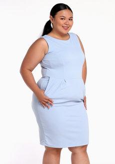 Neta Dress by Chelsea in Light Blue in XL