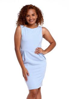 Neta Dress by Chelsea in Light Blue in M