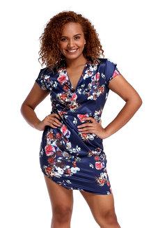 Lala Wrap Dress by Chelsea in Blue in M