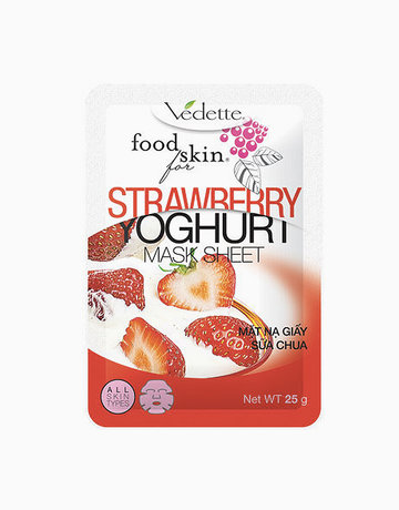 Strawberry Yoghurt Mask Sheet by Vedette