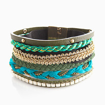 Aqua Mixed Maxi Bracelet by Timi